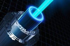 Fondo cibernético abstracto del eje ilustración del vector