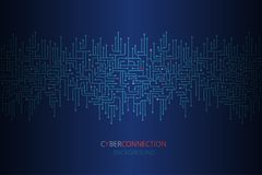 Fondo cibernético de la conexión con la frontera inconsútil del circuito electrónico libre illustration
