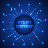 Fondo cibernético de la venta de lunes stock de ilustración