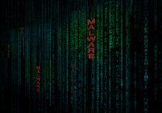 Fondo cibernético de Malware como concepto de protección de seguridad de datos libre illustration