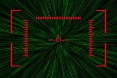 Fondo cibernético del extracto del deporte Interfaz del juego de ordenador Retículo futurista de la ciencia ficción Ejemplo de la stock de ilustración