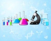 Fondo científico del laboratorio ilustración del vector