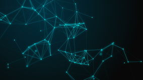 Fondo científico y tecnología abstracta Papel pintado dinámico digital del plexo Líneas, triángulos y puntos encuadernados bucle stock de ilustración