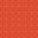 Fondo cinese senza cuciture dorato del modello di fiore del poligono dei trafori della finestra Immagine Stock