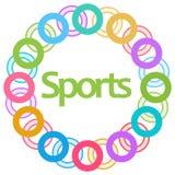 Fondo circolare variopinto di sport Fotografia Stock