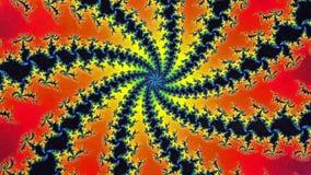 fondo circular de la animación de la vuelta del fractal del Mandelbrot stock de ilustración