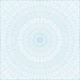 Fondo circular del papel cuadriculado de la rejilla del coordenada polar stock de ilustración
