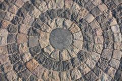 Fondo circular. Fondo de piedra Imagenes de archivo