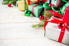 Fondo clásico de la Navidad imagenes de archivo