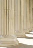 Fondo clásico de las columnas Imagenes de archivo