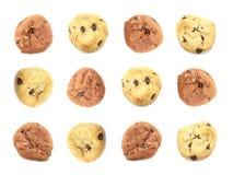 Fondo clasificado del papel pintado del alimento de las galletas Foto de archivo libre de regalías