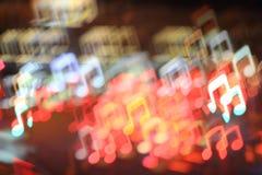 Fondo cobarde de la música Foto de archivo libre de regalías