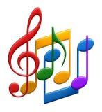 Fondo cobarde de la música stock de ilustración