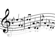 Fondo cobarde de la música Fotografía de archivo