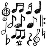Fondo cobarde de la música Ilustración del vector Foto de archivo