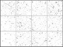 Fondo cobarde de la música Notación musical Mensural Símbolos negros de las notas Valor de nota Personal de la música Fije 12 en  ilustración del vector