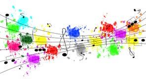 Fondo cobarde de la música Imagen de archivo libre de regalías
