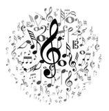 Fondo cobarde de la música Imagen de archivo