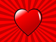 Fondo cobarde de los corazones de las tarjetas del día de San Valentín Foto de archivo libre de regalías