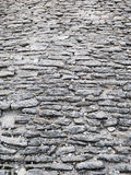 Fondo cobblestoned antico della pavimentazione fotografia stock