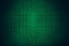 Fondo, codificación o pirata informático del verde del pirata informático del código binario stock de ilustración