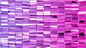 Fondo colocado estilo polivinílico bajo abstracto animación inconsútil 3d en 4k Colores modernos de la pendiente Reflejos violeta libre illustration