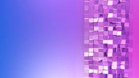 Fondo colocado estilo polivinílico bajo abstracto animación inconsútil 3d en 4k Colores modernos de la pendiente Reflejos violeta ilustración del vector