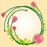 Fondo color de rosa del marco de la flor del extracto Imagen de archivo libre de regalías
