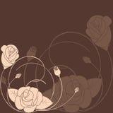 Fondo color de rosa del modelo de flor del extracto Imagenes de archivo