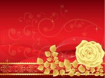 Fondo color de rosa del rojo stock de ilustración