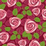 Fondo color de rosa floral inconsútil libre illustration