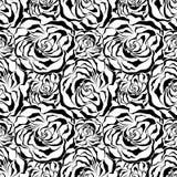 Fondo color de rosa inconsútil. Illustratio negro del vector stock de ilustración