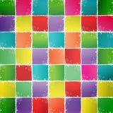 Fondo colorato dei quadrati Fotografie Stock Libere da Diritti