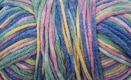 Fondo colorato della lana fotografia stock