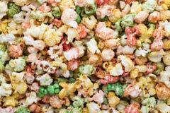 Fondo colorato di struttura del popcorn Popcorn dolce Immagine Stock