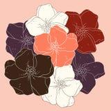 Fondo colorato floreale decorativo. Illustrazione Vettoriale