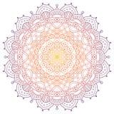 Fondo colorato modello della mandala Illustrazione di vettore Elemento di meditazione per yoga dell'India Ornamento per la a di d illustrazione di stock