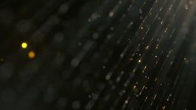 Fondo coloreado abstracto con las partículas que brillan que caen de la animación como lluvia festiva 4K, ultra resolución de HD libre illustration