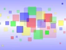 Fondo coloreado al azar de los cuadrados Imagenes de archivo