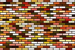 Fondo coloreado al azar del ladrillo Imagenes de archivo