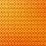 Fondo coloreado amarillo-naranja del extracto del diseño del panal stock de ilustración