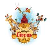 Fondo coloreado circo stock de ilustración