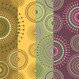 Fondo coloreado con los círculos Stock de ilustración