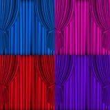 Fondo coloreado de las cortinas Fotografía de archivo libre de regalías