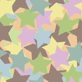 Fondo coloreado de las estrellas Fotos de archivo libres de regalías