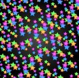 Fondo coloreado de las estrellas Foto de archivo