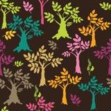 Fondo coloreado de los árboles Fotografía de archivo