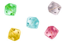 Fondo coloreado de los cristals Imagen de archivo