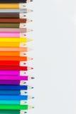 Fondo coloreado de los lápices foto de archivo