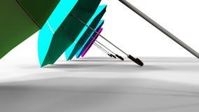 Fondo coloreado de los paraguas almacen de video